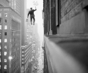 Flying, man, and street image