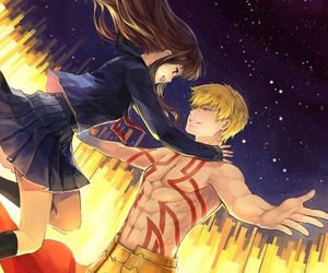 fate stay night, gilgamesh, and anime image