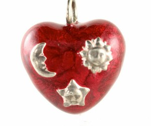 etsy, hearts, and pendant image