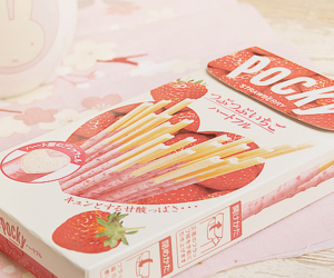 pocky, strawberry, and food image