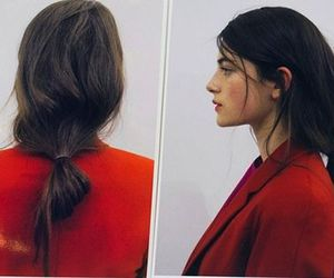 red, fashion, and hair image
