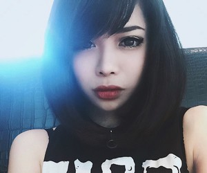 asian, goth, and pale image