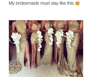 bridesmaid, wedding, and dress image