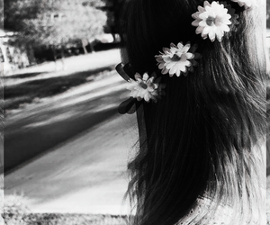 broken, dark, and flower image