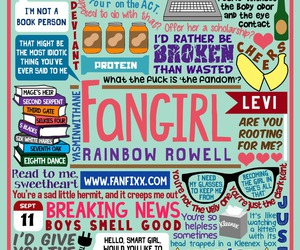 fangirl, book, and rainbow rowell image