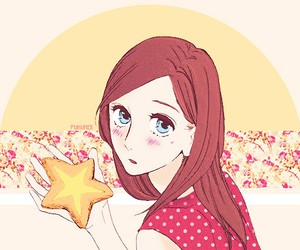 anime, red, and star image