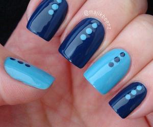 blue, dots, and nail art image