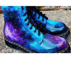 galaxy, boots, and shoes image