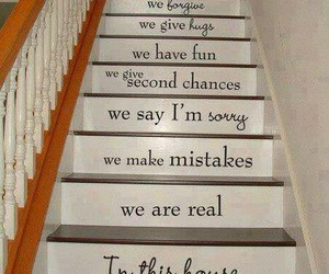 family, stairs, and house image