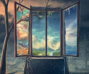art and window image