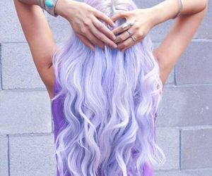 colorful, dyed hair, and lavender hair image