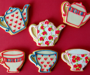 Cookies, tea cup, and tea party image