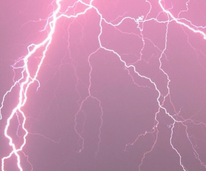 pink, lightening, and pastel image