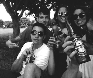 alcool, black and white, and drunk image
