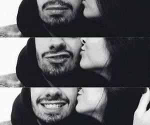 kiss, smile, and love image