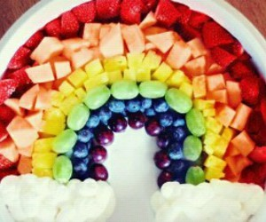 fruit, rainbow, and food image