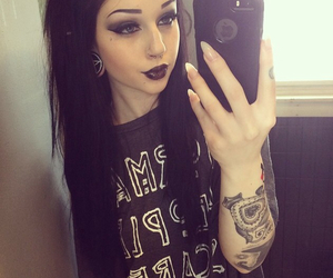girl, goth, and Piercings image