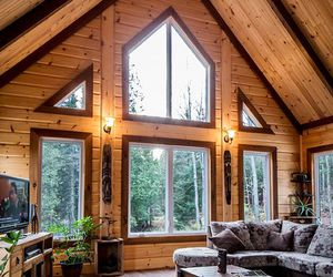 cabin, house, and dream home image