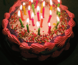 bright, happy birthday, and candles image