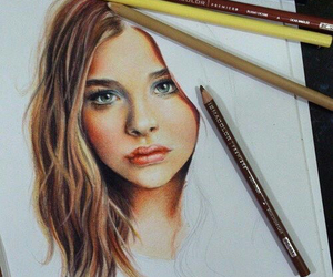 art, drawing, and chloe moretz image