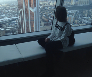 girl, pale, and city image
