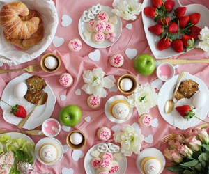 croissants, cupcakes, and green apples image