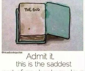 book, end, and sad image