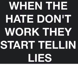 hate, lies, and quote image