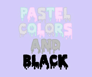 colors, black, and pastel image