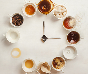 coffee, clock, and time image