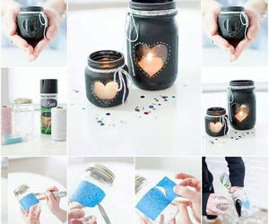 diy, candle, and heart image
