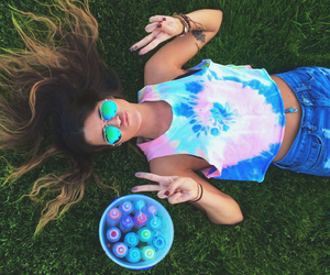 diy, fashion, and tie dye image
