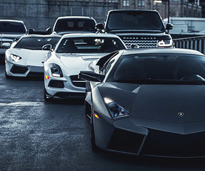car, Lamborghini, and range rover image