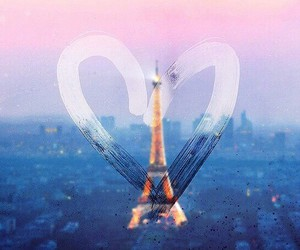 paris, love, and heart image
