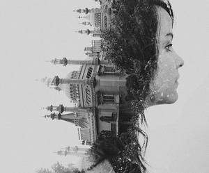 photography, double exposure, and photo image
