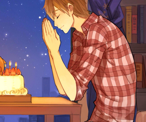 anime, birthday, and manly image