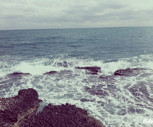 listen, rock, and sea image