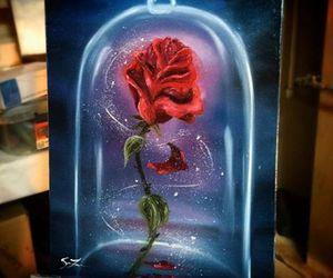 disney, drawing, and rose image