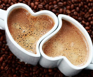 coffee, heart, and cup image