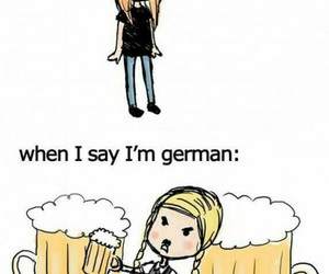 girl, german, and beer image