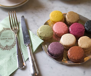 macarons, laduree, and food image