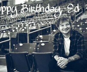 ed sheeran, birthday, and ed image
