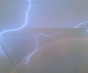 lightning, pale, and sky image