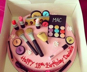 cake, mac, and make up image