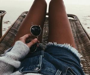 summer, sunglasses, and beach image