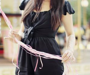balloons, dress, and black image