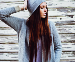 cardigan, gray, and style image