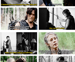 carol, the walking dead, and daryl image