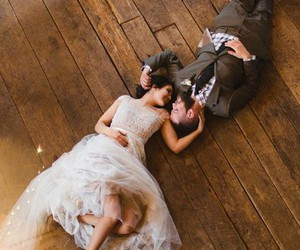 beautiful, wedding, and couple image