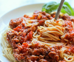 food, meal, and pasta image
